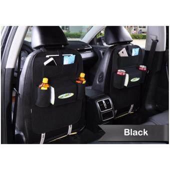 กระเป๋าเก็บของแขวนเบาะรถยนต์แพคคู่ Automobile seat storage bag_black