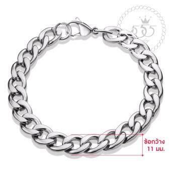 555jewelry 316L Braceletสร้อยข้อมือผู้ชาย รุ่น FSBR11-A (สี Steel)