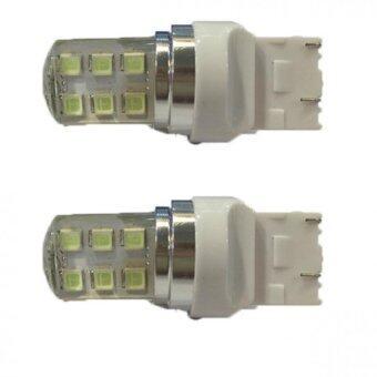 หลอด LED ไฟหรี่เดย์ไลท์รีโว่ REVO เสียบใหญ่ T20 LED 12 เม็ด แสงสีขาว 1 คู่ สีขาว (WHITE ) 84-racing