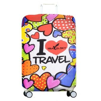 Lovely Travel Luggage Suitcase Protective Cover -For 22-26 inch Suitcase (Intl)