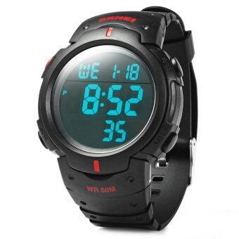 Skmei 1068 led นาฬิกากันน้ำทหารบก (สีแดง)