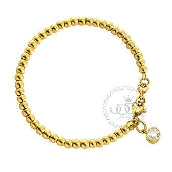 555jewelry 316L Bracelet สร้อยข้อมือ รุ่น MNC-BR302-B (สี Yellow Gold)