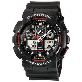 Casio G-shock นาฬิกาข้อมือ รุ่น GA-100-1A4V ( Black/Red ) image