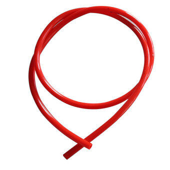 "Amango Motorcycle Fuel Line Red 8mm 30"" Gas Hose Tube For Honda XR50 CRF50"
