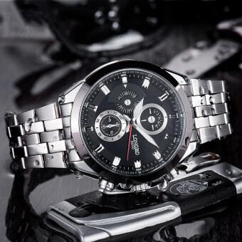 LONGBO 8650 ชายแฟชั่นรัดสเตนเลสธุรกิจนาฬิกาควอทซ์กีฬาสำหรับคน