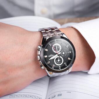 LONGBO 8650 ชายแฟชั่นรัดสเตนเลสธุรกิจนาฬิกาควอทซ์กีฬาสำหรับคน (image 1)