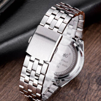 LONGBO 8650 ชายแฟชั่นรัดสเตนเลสธุรกิจนาฬิกาควอทซ์กีฬาสำหรับคน (image 2)