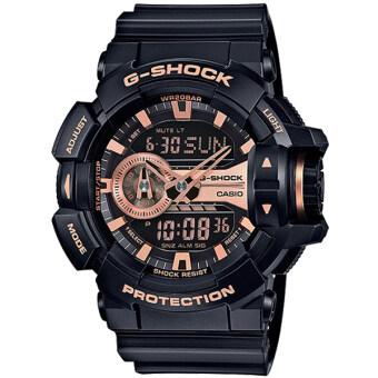 Casio G-Shock นาฬิกาข้อมือผู้ชาย สายเรซิ่น รุ่น GA-400GB-1A4 - สีดำ image