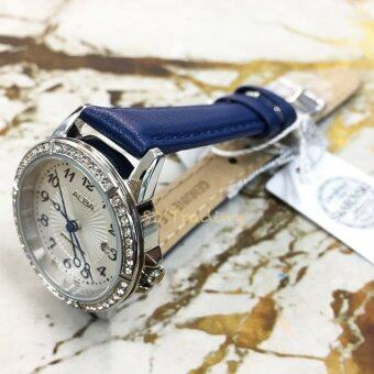 ALBA นาฬิกาข้อมือผู้หญิง สีขาว/น้ำเงิน สายหนัง