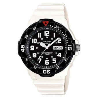 Casio Standard นาฬิกาข้อมือผู้ชาย สายเรซิ่น รุ่น MRW-200HC-7BV - White/Black