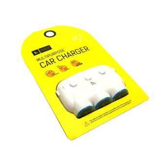HOCO Car Charger 5V/3.1A 15.5W ปลั๊กขยายสำหรับช่องที่จุดบุหรี่ในรถยนต์ 3 ช่อง พร้อมช่อง USB 2 port สำหรับ GPS ที่ชาร์ตในรถ