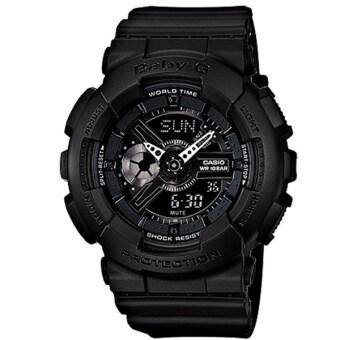 Casio Baby-G นาฬิกาข้อมือผู้หญิง สายเรซิ่น รุ่น BA-110BC-1A - สีดำ