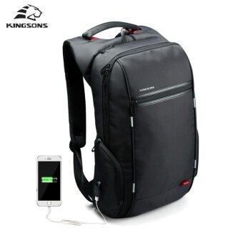 Kingsons KS3140W 15.6 Inch City Elite Bag Designer Laptop Backpack Water-Resistant Anti-Theft Laptop Rucksack with USB Charging Port Black - intl (image 1)