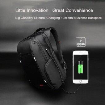 Kingsons KS3140W 15.6 Inch City Elite Bag Designer Laptop Backpack Water-Resistant Anti-Theft Laptop Rucksack with USB Charging Port Black - intl (image 3)