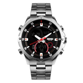 2559 คุณภาพสูง SKMEI ใหม่ 1146 S ' นาฬิกาปฏิทินคนแถบ (เงิน)