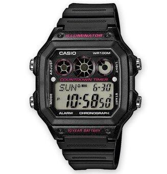 Casio นาฬิกาข้อมือผู้ชาย รุ่น AE-1300WH-1A2V (สีดำ)