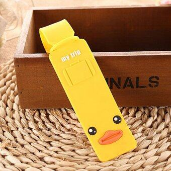 Lovely Silicone Travel Luggage Tags Baggage Suitcase Bag Labels Name Address Yellow - Intl