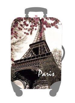 Mori ผ้าคลุมกระเป๋าเดินทาง ผ้ายืด Luggage cover Suitcase cover Spandex ลาย Eiffel tower (Size M) สำหรับกระเป๋าเดินทางไซส์ 22-26 นิ้ว