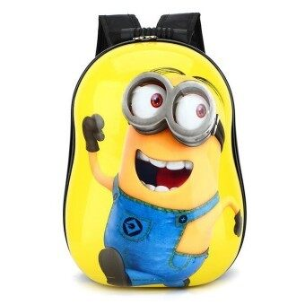 Hely TOP ABS Kids Baby Boy Schoolbag Waterproof Cute Cartoon Animal Eggshell Backpack (Minions) - intl