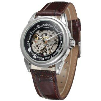 Winner Men's Automatic Leather Wrist Watch WRG8022M3S7 image