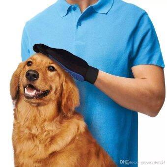 Spint อุปกรณ์แปรงขนสัตว์เลี้ยง True Touch หวีขนหมาและขนแมว ถุงมือกรูมมิ่ง อุปกรณ์แปรงขนสุนัข