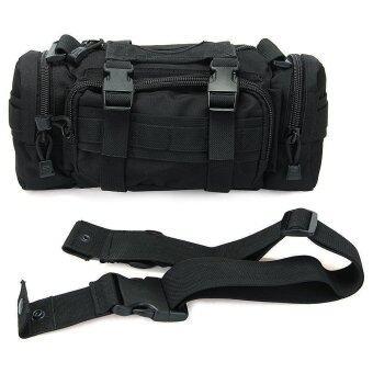 กระเป๋าเป้กระเป๋าสะพายกระเป๋ายุทธวิธีตีทหารค่ายเดินป่าปรับได้กระเป๋าสีดำ-ระหว่างประเทศ