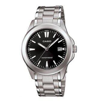 Casio Standard นาฬิกาข้อมือสุภาพบุรุษ สายสแตนเลส รุ่น MTP-1215A-1A2DF - Silver/Black image