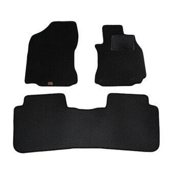 Blackhole Carmat พรมรถยนต์เข้ารูป 2 ชั้น Toyota Altis 2014 - Present Black + Rubber Pad รุ่น JTOALYBR (สีดำ)