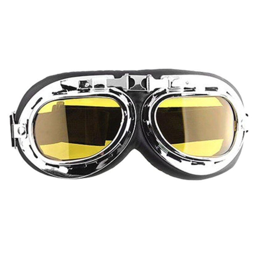 JOR Men Motorcycle Helmet Goggles (Yellow)