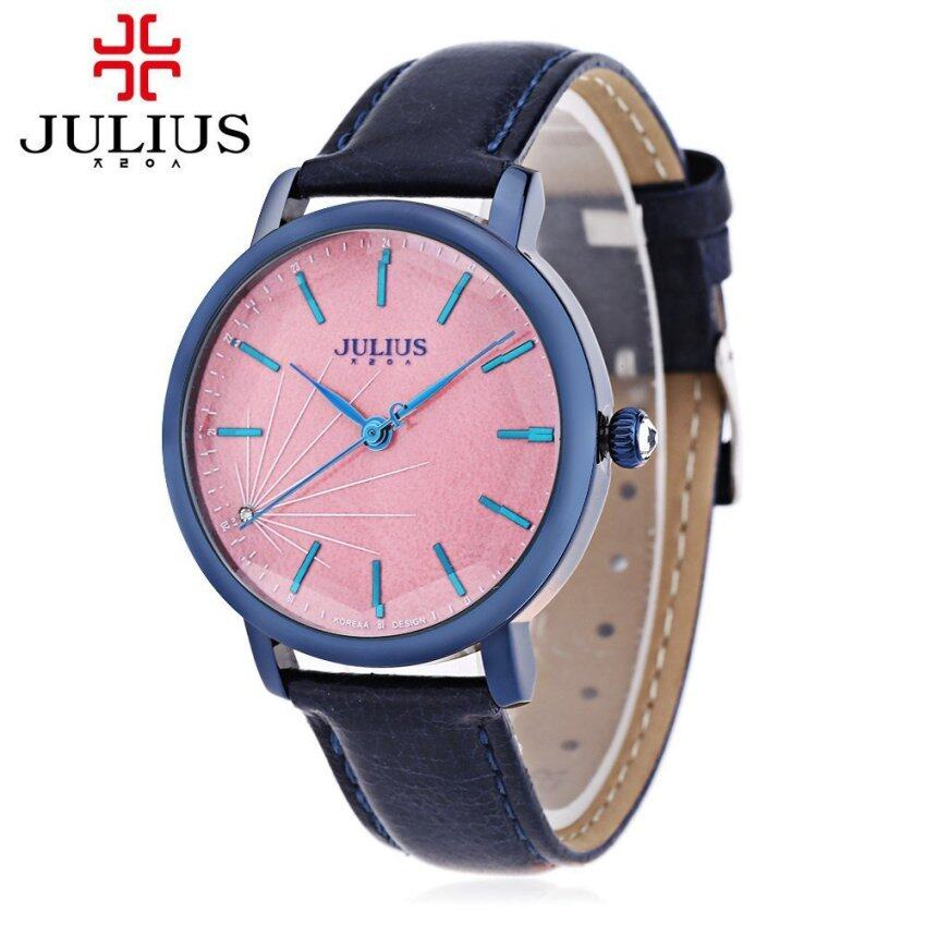 JULIUS JA - 888 Women Quartz Watch Artificial Diamond Dial Solid Mirror 3ATM Wristwatch ...