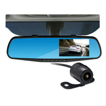 "K550 5.0"" 1080P Full HD Car DVR Rearview Mirror Dual Lens Camera DVR Video Recorder With Night Vision"