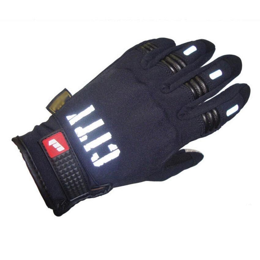 รถจักรยานยนต์ถุงมืออบอุ่นฤดูหนาวสัมผัสโทรศัพท์มือถือหน้าจอสัมผัส (L)