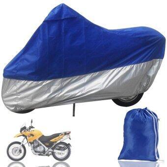 LeadSea ABWE! HOUSSE BACHE MOTO Couvre-Moto velo VTT scooter Taille XL245cm bleu argente protection