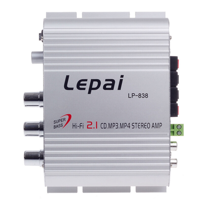 Leipai LP-838 Silver 12V 60W Multifunction Stereo Car Audio Power Amplifier Hi-Fi MP3 Player Car Amplifier Radio Music Speaker - Intl