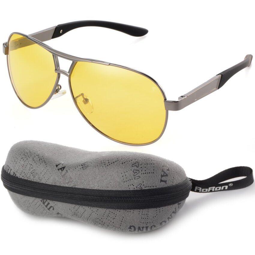 สุดยอดสินค้ามองในที่มืดของผู้ชายแว่นตากันแดดนั่งกลางแจ้งสนามแม่เหล็กแว่นตาสีเหลืองเลนส์+สีเทากรอบOS398-SZ ราคาย่อมเยา