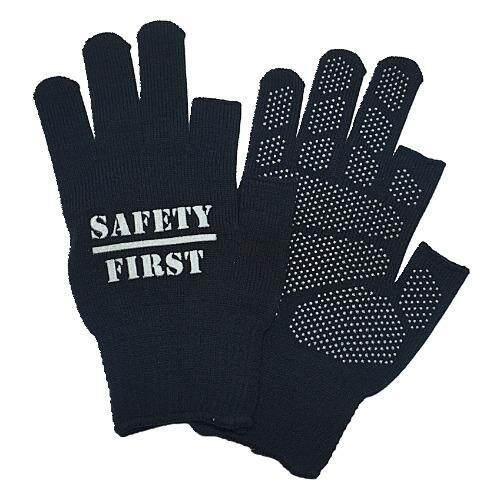 M1 ถุงมือมอเตอร์ไซค์ ตุ๊กแกกันลื่น รุ่นตัด 2 นิ้ว ลาย Safety First จำนวน 3 คู่
