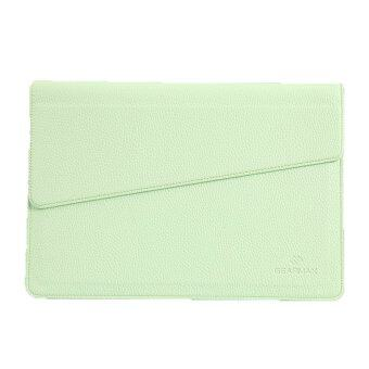 Macbook Air & Pro 13.3 Case Leather Sleeve Envelope Bag with Magnetic Snap (Green)