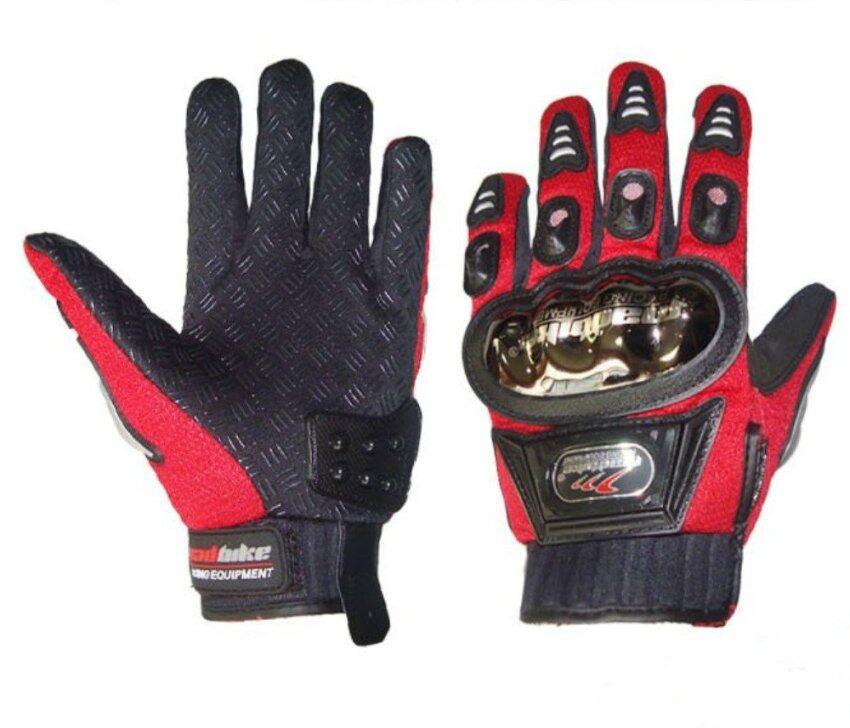 Madbike A-01S Alloy Steel Motorcycle Gloves Red (Intl) - intl