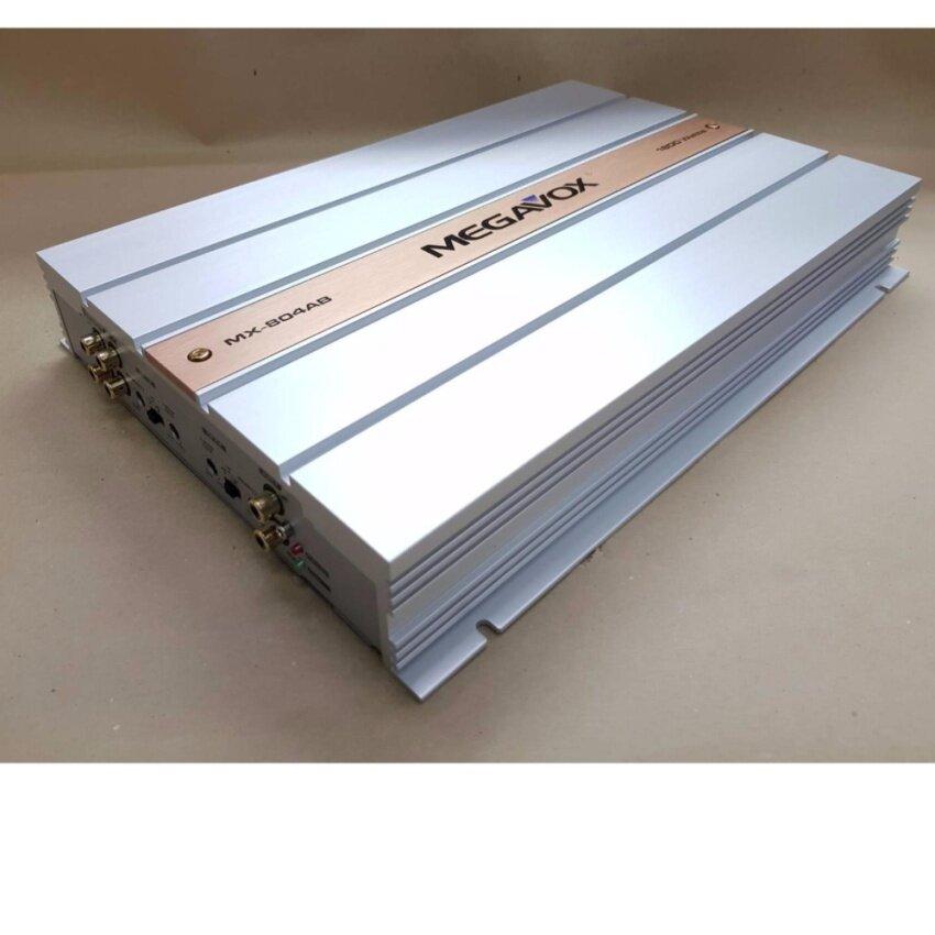 MAGAVOXพาวเวอร์แอมป์คุณภาพ ClassABขับกลางแหลม/ซับเบสได้ MAGAVOXรุ่น mx-804AB 1800W