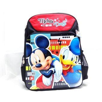Mickey Mouse กระเป๋าเป้สะพายหลัง กระเป๋านักเรียน สีดำลายมิกกี้โดนัลดั๊ก