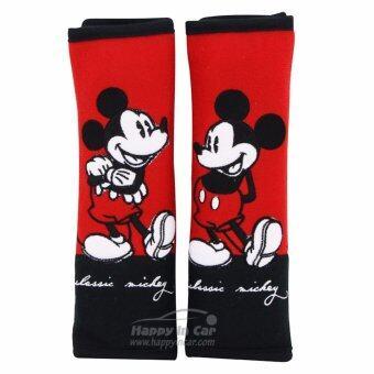 Mickey Mouse นวมหุ้มเข็มขัดนิรภัย Classic Mickey (แพคคู่)