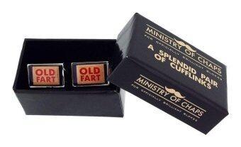 Ministry of Chaps Old Fart Splendid Cufflink Set in Gift Box HM709 - intl