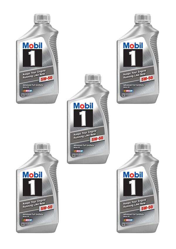 Mobil 1™ 5W-50 advanced full synthetic motor oils Made in USA สังเคราะห์แท้100% ...