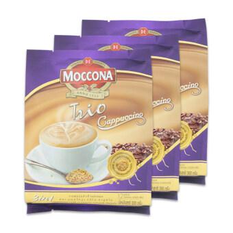 MOCCONA มอคโคน่า กาแฟปรุงสำเร็จชนิดผง ทรีโอ คาปูชิโน 25 กรัม x 12 ซอง (ทั้งหมด 3 ถุง)