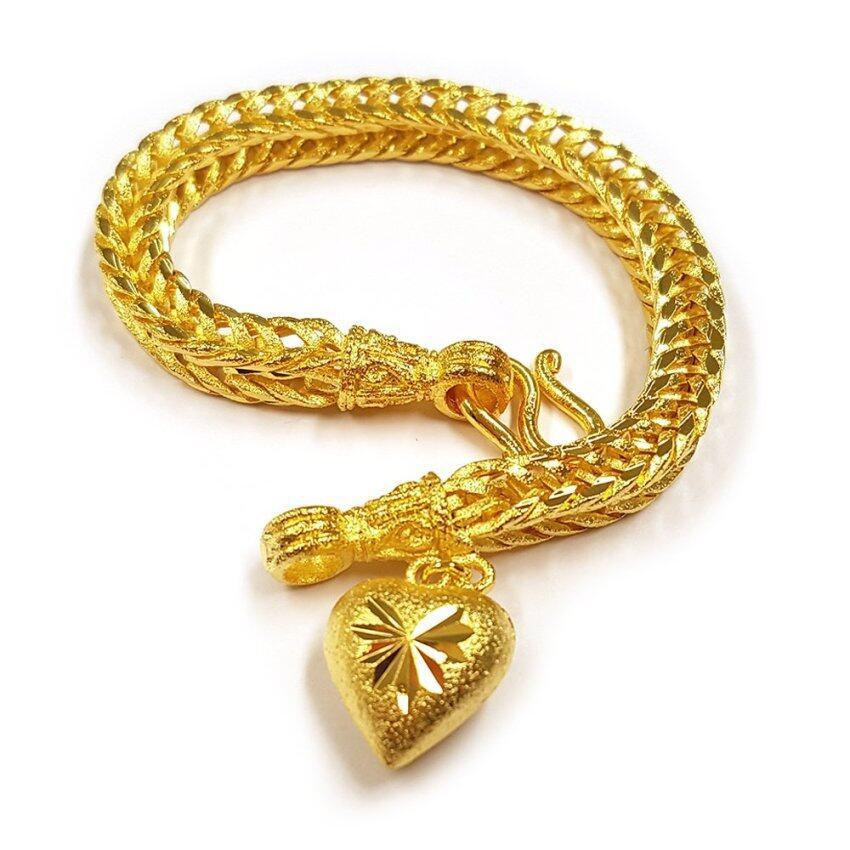 MONOสร้อยข้อมือจากเศษทองแท้ ลายสี่เสา รุ่นน้ำหนัก ๒ สลึง ...