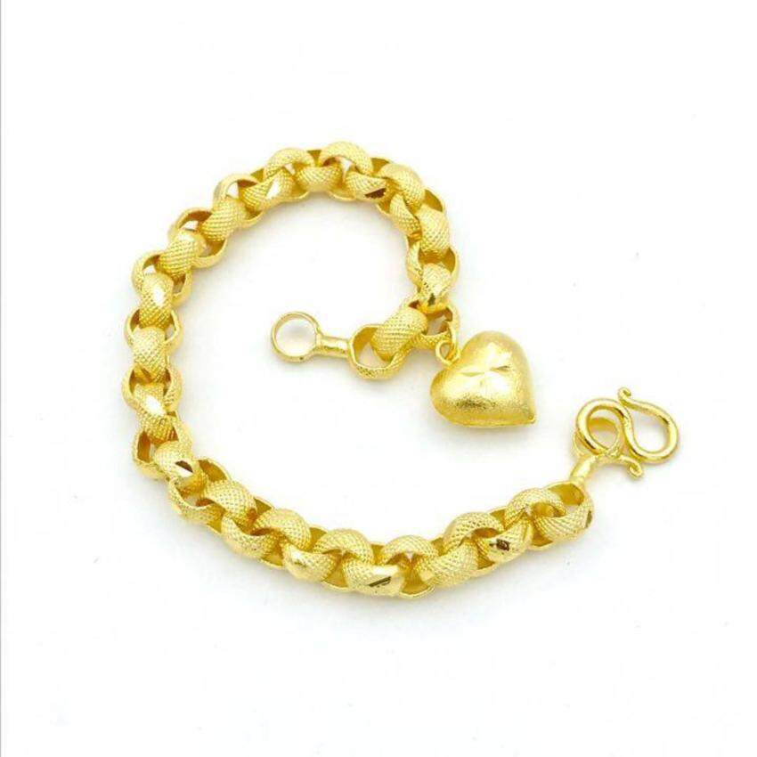 MONO Jewelry สร้อยข้อมือทองลายทาโร่โปร่งพ่นทรายงานทองไมครอนรุ่นน้ำหนัก ๑ บาท ...