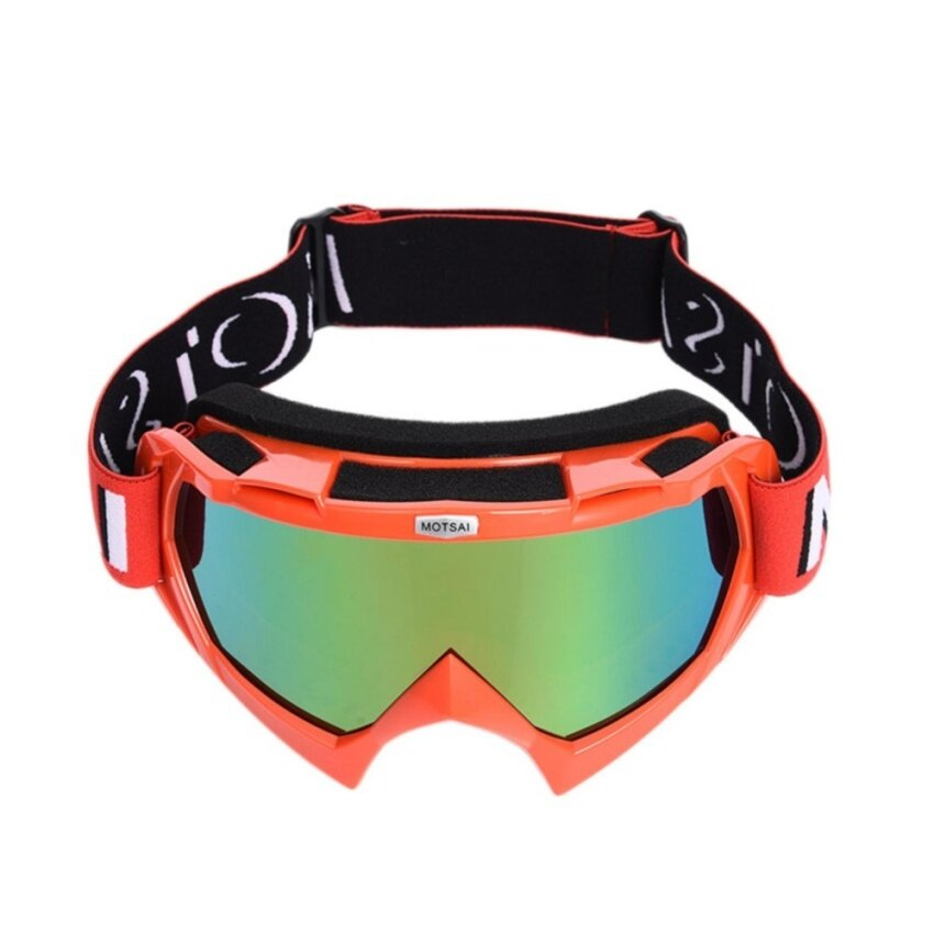 Motorbike Eyewear Cross-country Helmet Windbreak Glasses Goggles Ski Riding Glasses Eye Protective Gear Motor Goggles Red - intl