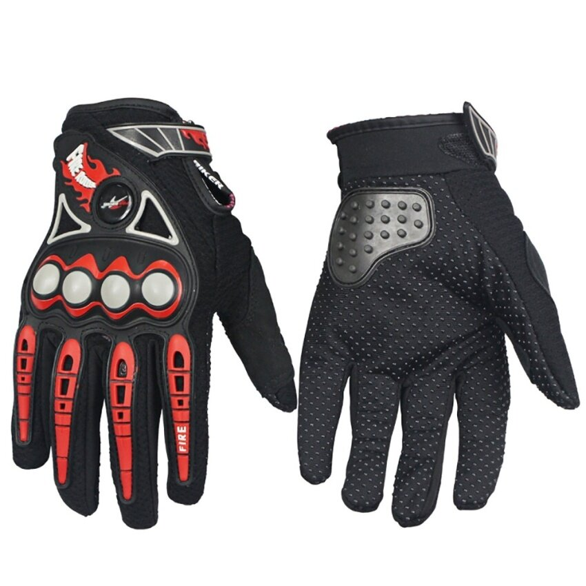 Motorcycle anti-skid gloves professional racing gloves(Black/L) - intl