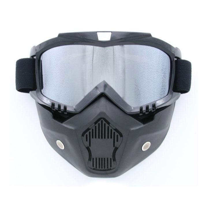 Motorcycle Cross Country Wind Mirror Mask Riding Outdoor Sports Mirror Accessories(Silver) - intl