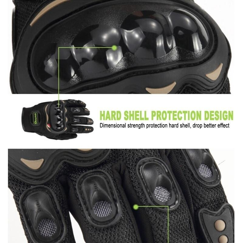 Motorcycle Gloves All refers to cross-country vehicle anti-slip anti-fall Knight locomotive Protective Gloves - intl